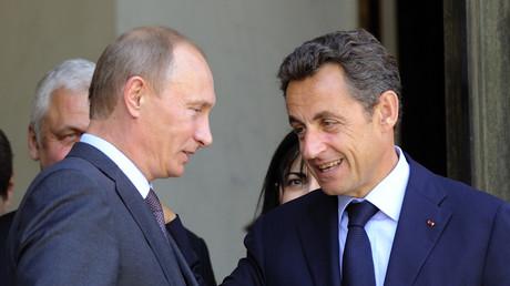 Nicolas Sarkozy et Vladimir Poutine à l'Elysée en juin 2010.