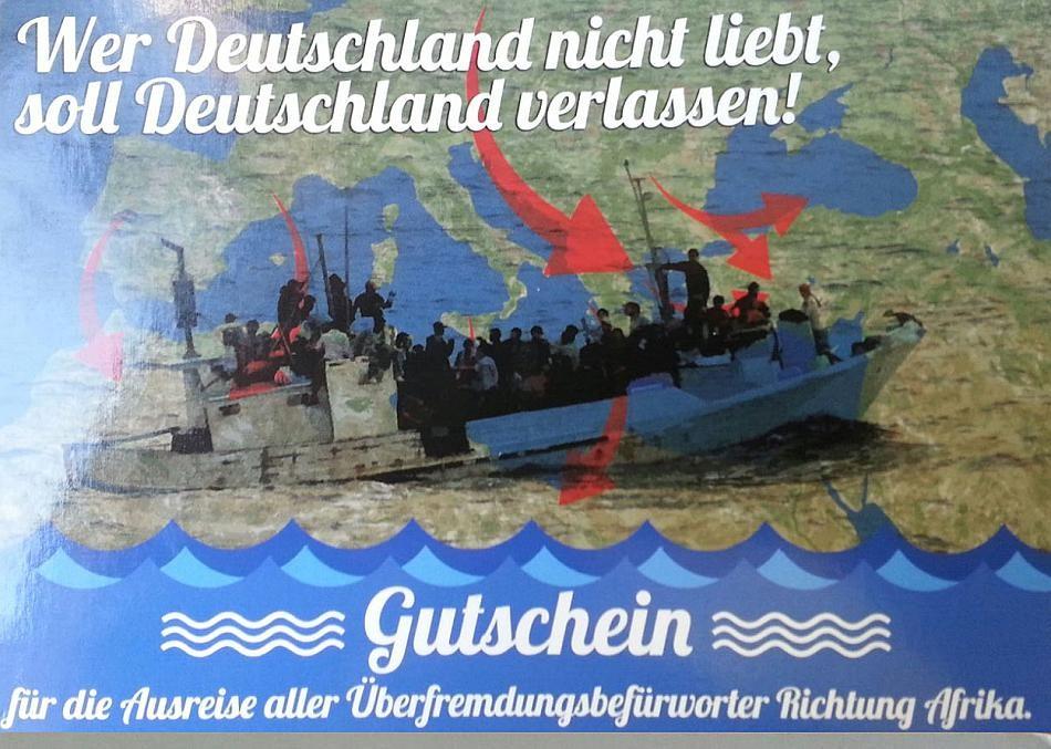 Des nazis lui offrent un aller simple pour l'Afrique, un élu allemand exige son dû et porte plainte