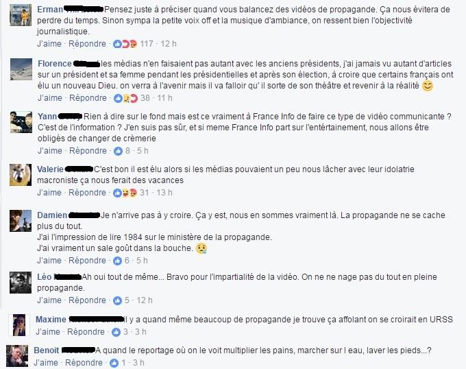 Jugée élogieuse à l'égard de Macron, une vidéo de France Info clouée au pilori sur Facebook