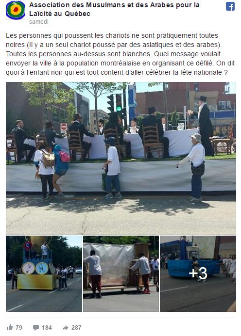 Polémique autour du racisme supposé du défilé de la Saint-Jean au Québec