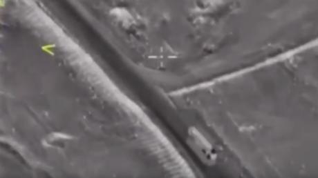 Le convoi de Daesh attaqué par l'aviation russe