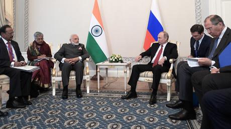 Le Premier ministre indien Narendra Modi et le président russe Vladimir Poutine