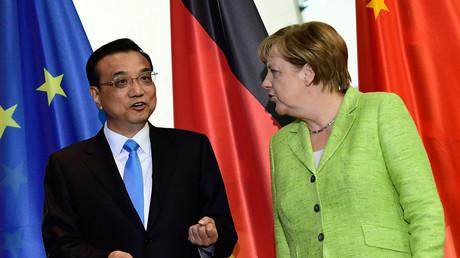 Li Keqiang et Angela Merkel à Berlin, le 1er juin