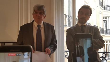 Les avocats de la famille Halimi lors d'une conférence de presse sur l'affaire