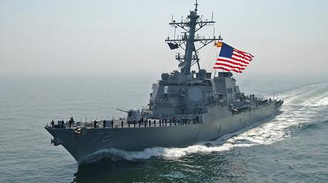 L'USS Mahan (DDG-72) américain dans la Baltique