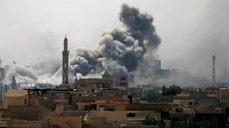Photo d'illustration, des combats entre des militaires irakiens et Daesh à Mossoul, en Irak