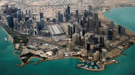 Vue aérienne de Doha
