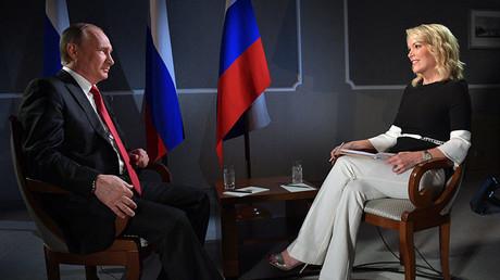 Vladimir Poutine interviewé par la présentatrice de NBC Megyn Kelly