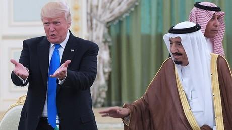 Donald Trump lors de sa visite en Arabie saoudite fin juin