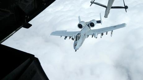 Un avion de chasse américain