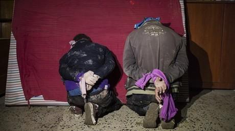 Des prisonniers à Mossoul