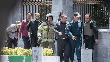 Lors de l'attaque contre le parlement iranien à Téhéran