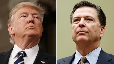 Donald Trump et James Comey, photo ©Gary Cameron / Reuters