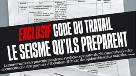 Le ministère du Travail porte plainte après la publication de documents, Libération répond