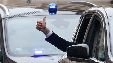 Emmanuel Macron fête sa victoire (archive)