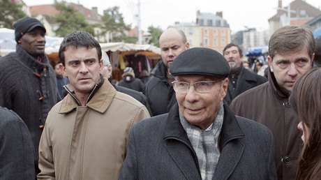 Manuel Valls et Serge Dassault à Corbeil-Essonnes en 2010