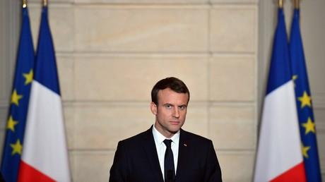 Emmanuel Macron lors d'une conférence de presse à l'Elysée le 2 juin 2017.