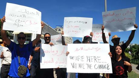 Des manifestants à Tunis, le 11 juin