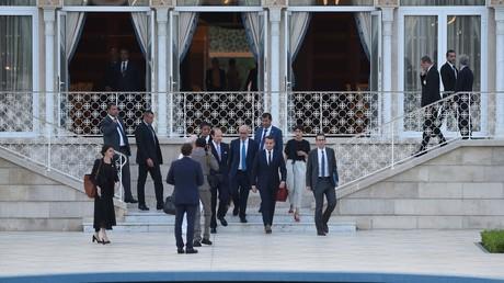 Emmanuel Macron au palais royal à Rabat