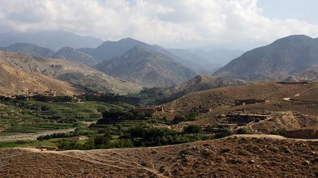 Les montagnes surplombant Tora Bora en Afghanistan