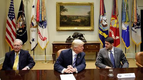 Donald Trump à la réunion avec les leaders républicains du Congrès