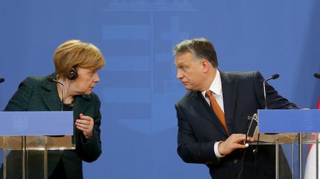 La chancelière allemande Angela Merkel et le président hongrois Viktor Orban