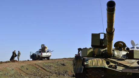 Des forces gouvernementales syriennes près de la ville Deraa, en mars 2015 (image d'illustration)