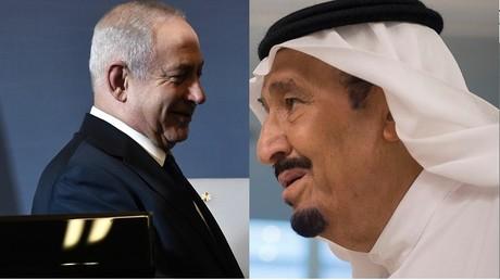 Le Premier ministre Benjamin Netanyahou et le roi Salmane d'Arabie saoudite