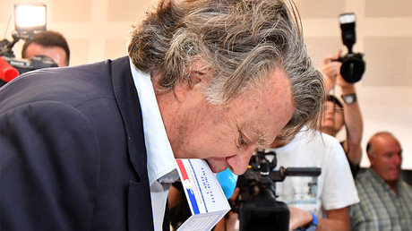 Gilbert Collard, élu de justesse dans le Gard, veut revoir l'organisation du Front national, photo ©PASCAL GUYOT / AFP