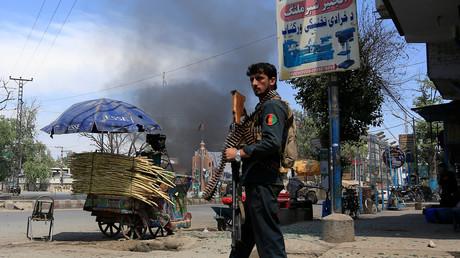 Un policier afghan (photographie d'illustration datant de 17 mai 2017)