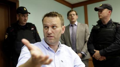 Alexeï Navalny au cours d'une audition en appel contre sa condamnation 30 jours de prison.