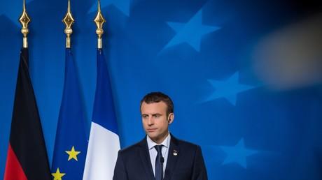 Emmanuel Macron lors de la conférence de presse qui a suivi le conseil européen du 23 juin 2017.