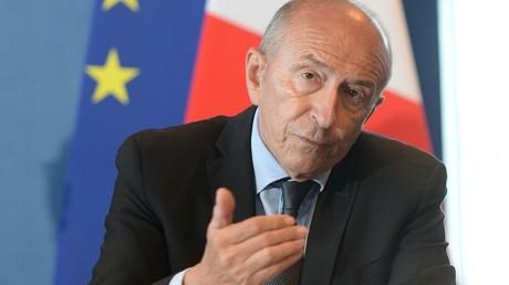 Gérard Collomb à Calais le 23 juin