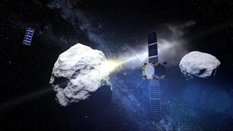 Une image générée par ordinateur de l'espace, diffusée le 15 mai par l'Agence spatiale européenne