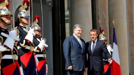 Emmanuel Macron et le président ukrainien Petro Porochenko