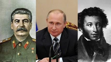 Joseph Staline, Vladimir Poutine, Alexandre Pouchkine