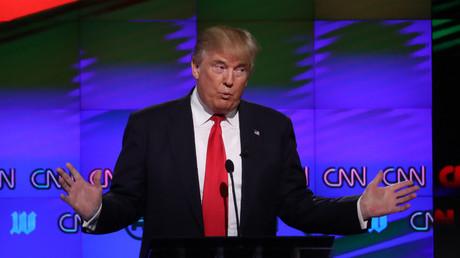 Donald Trump lors d'un débat organisé par CNN durant la campagne présidentielle