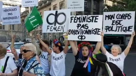 Des Femen avaient manifesté le 31 mai devant le Palais de justice pour demander la relaxe