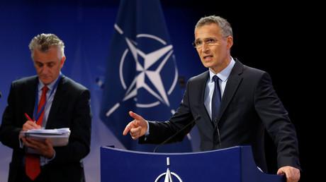 Jens Stoltenberg lors d'une réunion au siège de l'OTAN à Bruxelles le 28 juin 2017