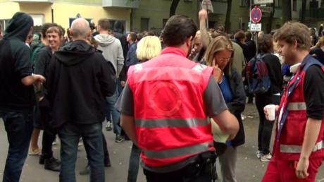 Manifestation contre l'éviction de squatters d'une propriété à Berlin