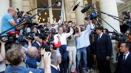 Les députés de la France insoumise le 20 juin 2017