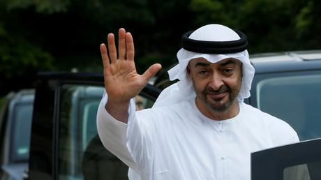 Le prince héritier d'Abou Dabi Mohammed ben Zayed lors de sa visite à Paris le 21 juin