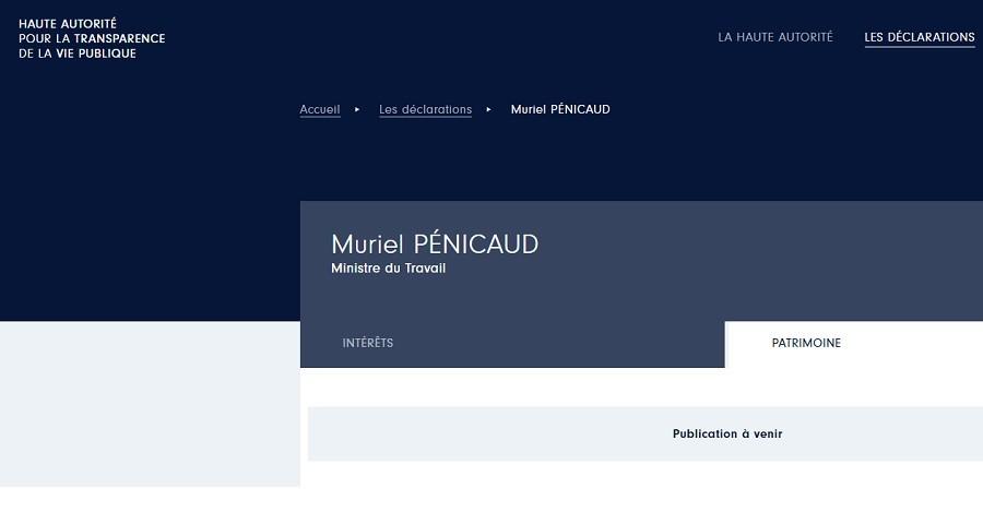 La déclaration de patrimoine de Pénicaud n'a pas été publiée, contrairement à ce qu'affirme Castaner