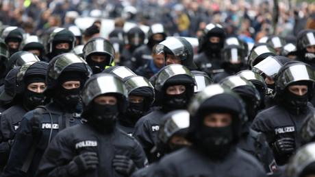 Police allemande lors de la manifestation de premier mai à Berlin