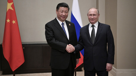 Photo d'archive, Xi Jinping  et Vladimir Poutine