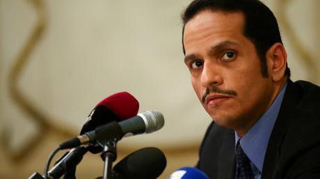 Mohammed ben Aberramane Al-Thani, ministre des Affaires étrangères du Qatar, photo ©Alessandro Bianchi/Reuters