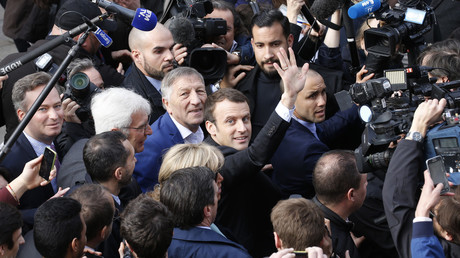 Emmanuel Macron en campagne en mars 2017, photo ©Pascal Rossignol/Reuters