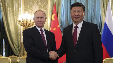 Vladimir Poutine et Xi Jinping à Moscou