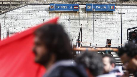 Illustration. Manifestation en 2016 à la frontière austro-italienne