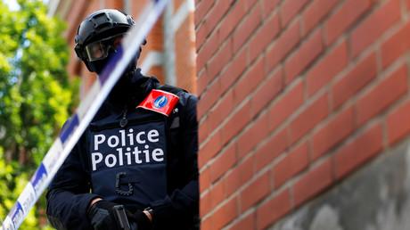 Un policier d'intervention belge lors d'un exercice